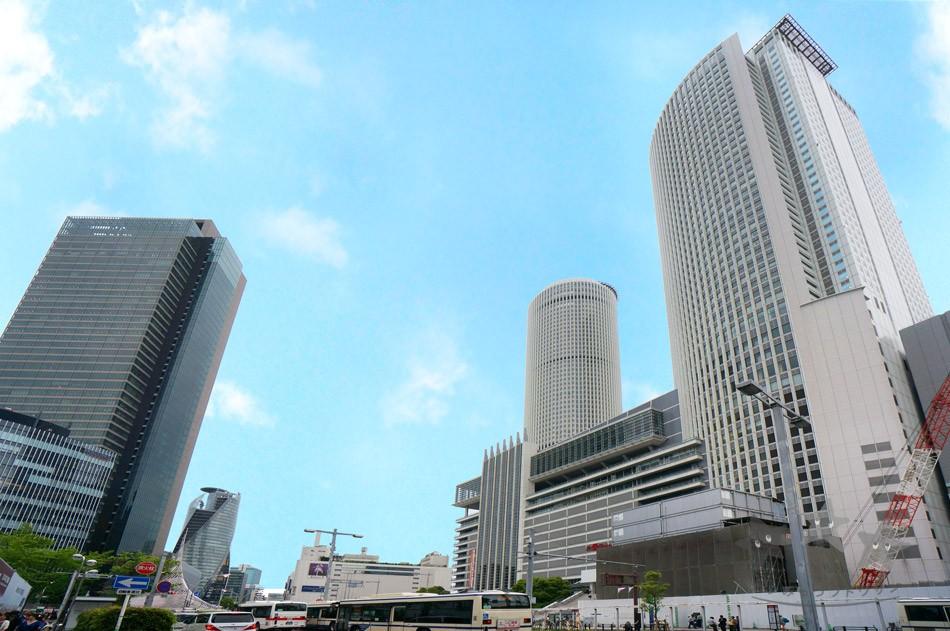 名古屋駅前エリア:名古屋最大のビジネスエリアであり交通の要所