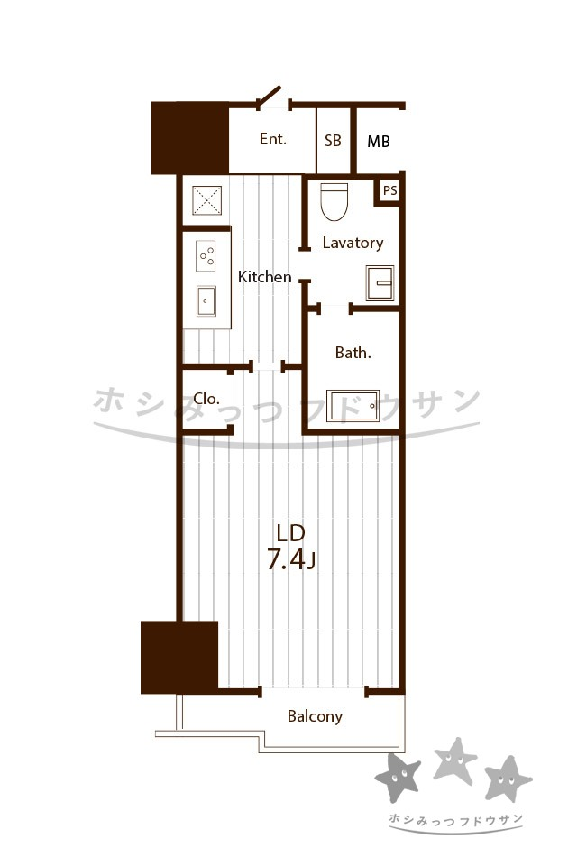 1K/ 24.26m² 54,000円~ 『パークアクシス丸の内』 名古屋市中区 デザイナーマンション 賃貸
